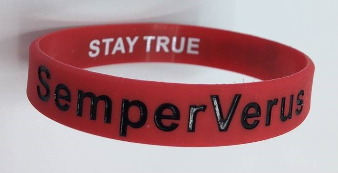 Purchase and wear your SemperVerus waterproof rubber wristband to inspire yourself to Stay True
