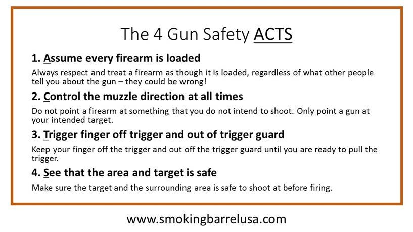 Read the article about the ACTS of Gun Safety at smokingbarrelusa.com