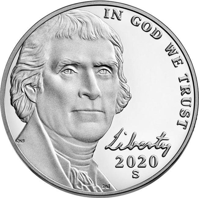 Image of a USA nickel bearing the words In God We Trust